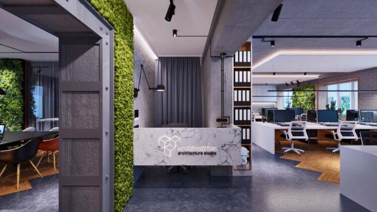 Architectural studio white